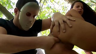 Claudia Rossi tries anal with random guy while in the park