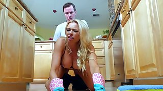 Kitchen romance with the step son for Briana Banks