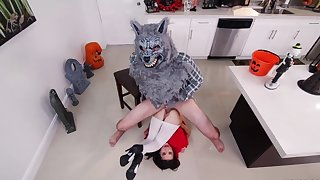 Kharlie Stone fucked by the big bad wolf in rough modes