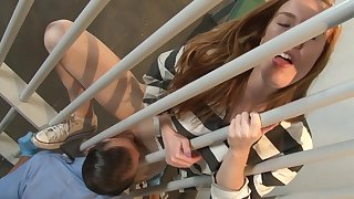 Imprisoned teen hard fucked in her cell by a horny man