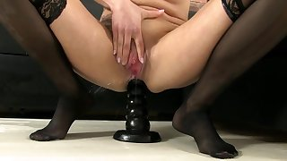Cute blonde loves it in the ass