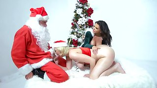 Santa got lucky this year with Jenna Ivory and Keisha Grey