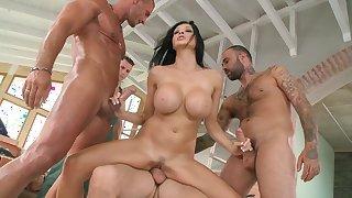 Busty pornstar Aletta Ocean gangbang hardcore
