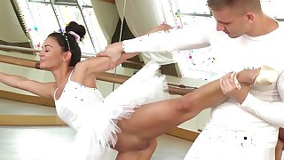 Sensual ballerina rides and sucks cock in perfect modes