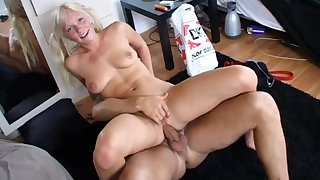 First anal for pigtailed blondie