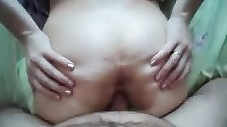 arab fucks wife & cums on her ass then fingers her to orgasm
