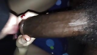 Ukrainian girl sucking black dick