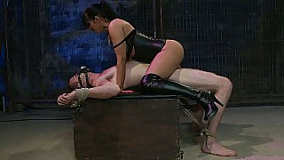 Thirsty for cock babe bouncing hard on cock