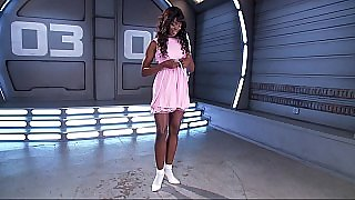 Ebony Barbie masturbating