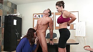 Group sex in the art class