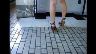 Candid open high heels in public 18