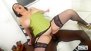 CASTING ALLA ITALIANA - Romanian BBW Paola Diamante takes anal at interracial Italian casting