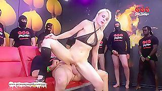 Fabulous pornstar Ashlee Cox in Hottest Bukkake, Cumshots adult clip