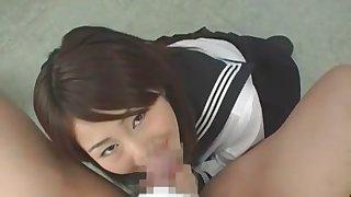 Hottest Japanese chick Megu Shirosaki, Natsu Fuka, Mayura Hoshizuki in Incredible Cougar, POV JAV movie