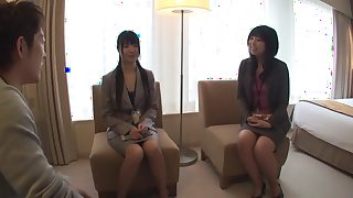 Best Japanese whore Reon Otowa, You Takeuchi, Amateur in Incredible lingerie JAV scene