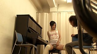 Horny Japanese whore Mei Akizuki in Exotic panties, college JAV video