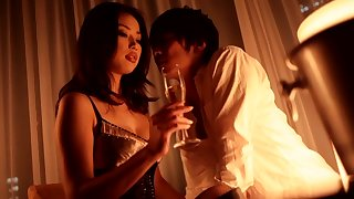 Crazy Japanese whore Risa Kasumi in Incredible stockings, fishnet JAV movie