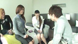 Kanade Otaha, Shiho Kanou, Mei Miura, Ribon Satsuki in Office Ladies Skipping Work 2 part 1