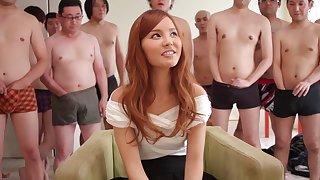 Fabulous Japanese chick Emiri Okazaki in Hottest blowjob, facial JAV video