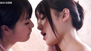 Hottest Japanese girl Nana Usami, Nozomi Aiuchi in Exotic softcore, bathroom JAV scene