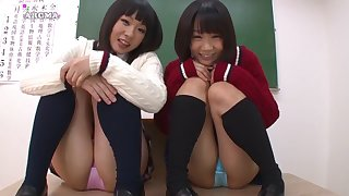 Yuri Shinomiya, Suzu Narumi, Miku Abeno, Maki Hoshikawa in Little Devil JK Skirt Collection DX2 part 8
