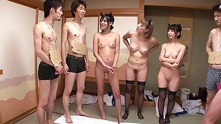Yuka Osawa, Natsumi Horiguchi, Uta Kohaku, Saki Hatsuki in Moodyz Fan Appreciation Bus Tour 2012 part 2.1