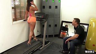 Gym Rat Creeps Asstastic Babe Kelsi Monroe