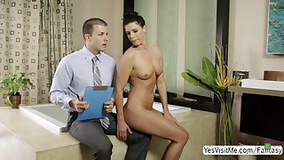 Nuru massesue sexy milf India fucks the cum out of Codey