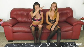 Alana Cruise and Britney Amber love playing lesbian sex games