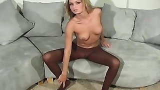 Mischievous cuties expose asses in sexy pantyhoses