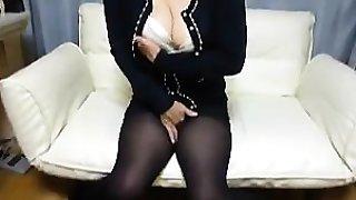 Sexy amateur black pantyhose nylon sex