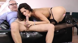 Stockings euro spunked
