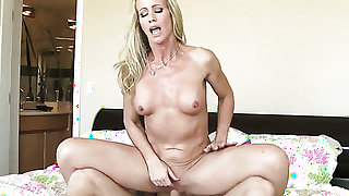 Blonde exotic gal Simone Sonay with firm ass and trimmed pussy has fire