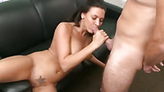 Brunette Rachel Starr has great cock sucking experience